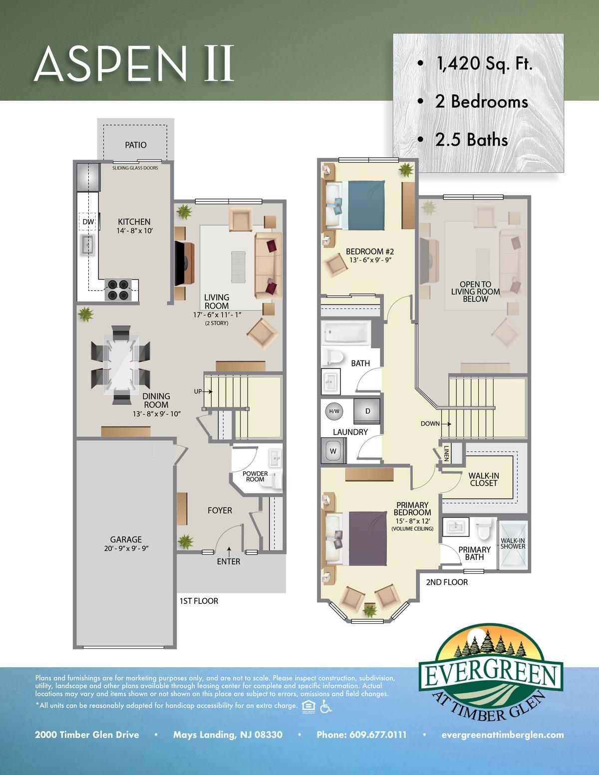 Evergreen at Timberglen Floor Plans