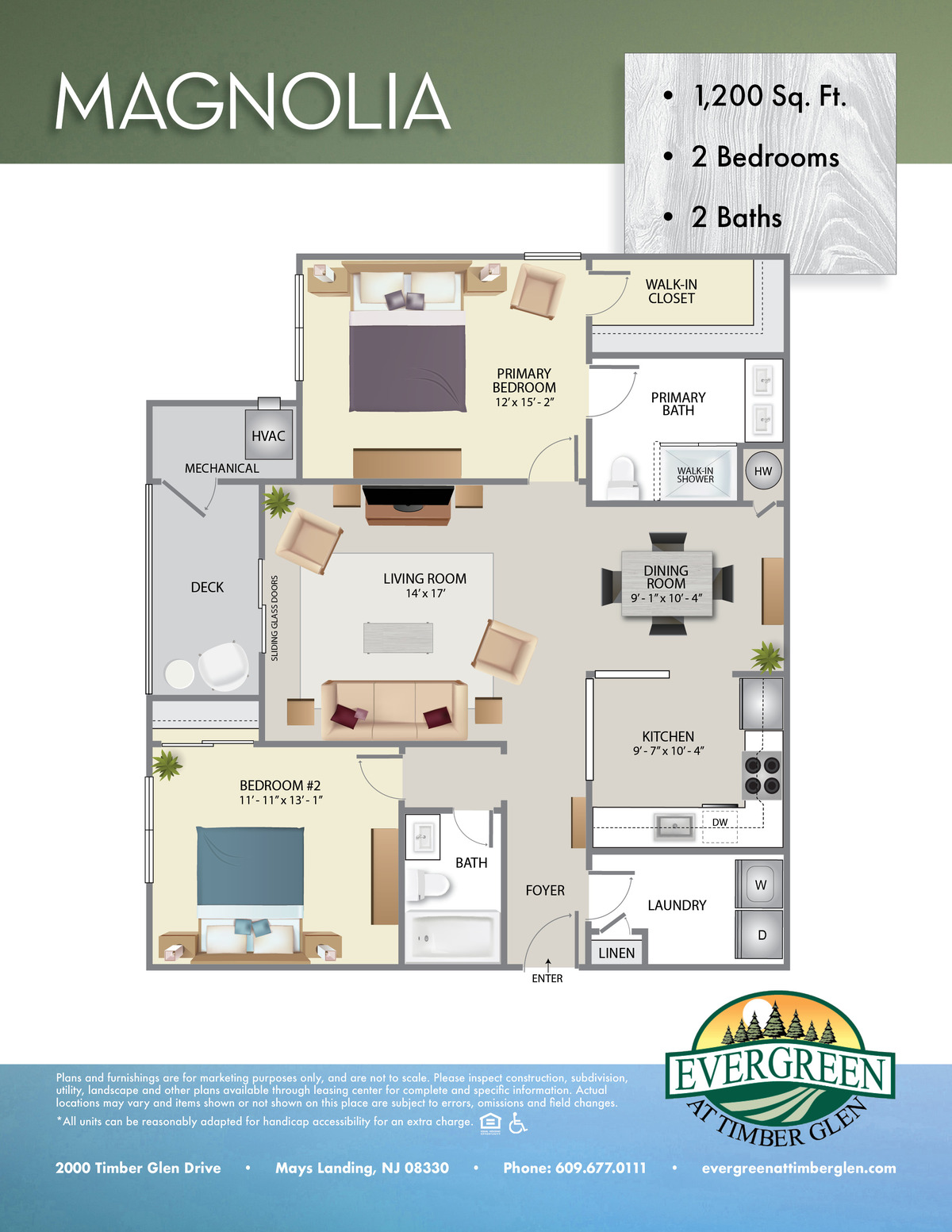 Evergreen At Timberglen Floor Plan Magnolia