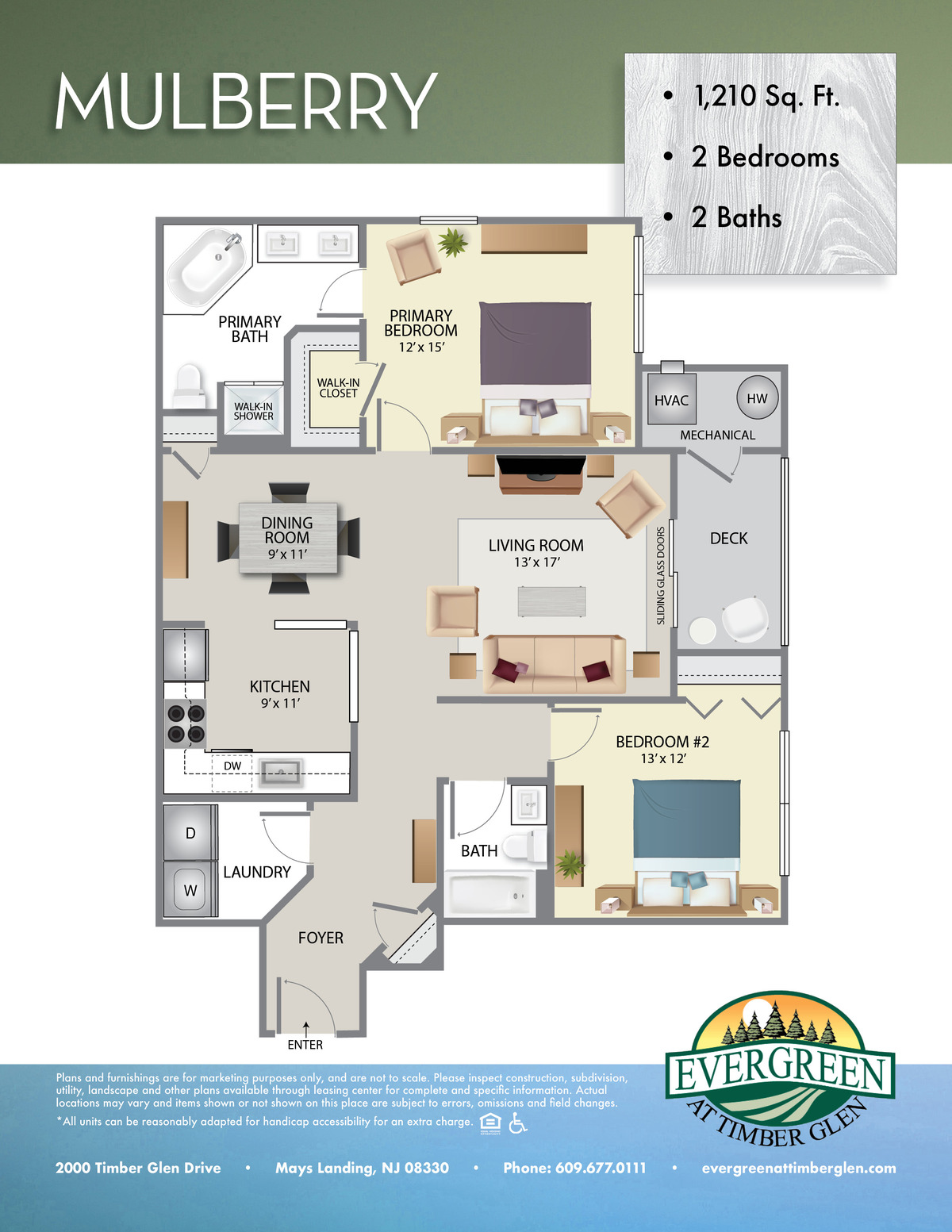 Evergreen At Timberglen Floor Plan Mulberry